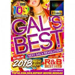 DJ★Sparks / Gal's Best 2018 New & R&B Best (3DVD)