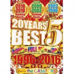 the CR3ATORS / 20 Yars Best 5 -1996-2016- (3DVD)